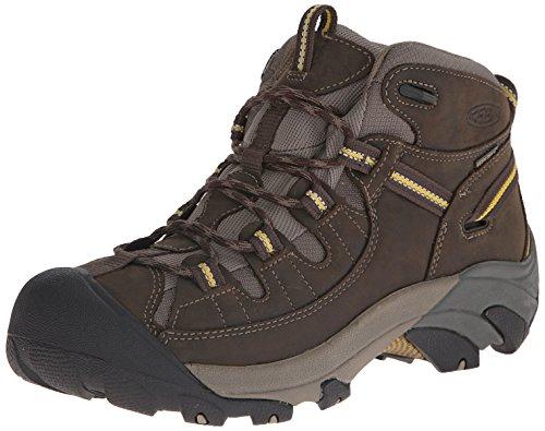 KEEN Men's Targhee II Mid Wide Outdoor Boot, Black Olive/Yel