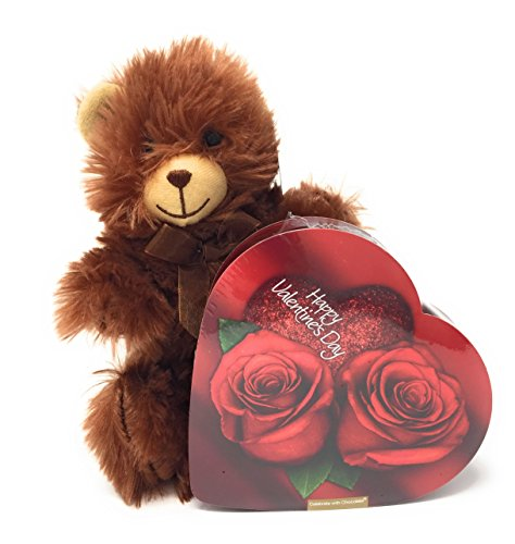 Valentine's Super Soft Plush Bear With Small Heart Chocolate Gift Box