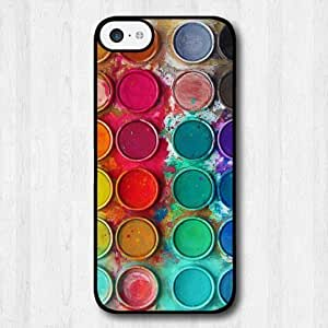 For iPhone 5C Case, Fashion Design Watercolor Paint Box Pattern Protective Hard Phone Cover Skin Case For iPhone 5C +Screen Protector