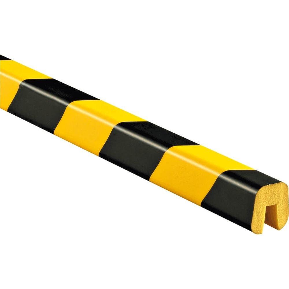knuffi tipo G Amarillo/Negro Perfil protector de bordes tipo G, autoadhesivos, diseño, Amarillo/Negro, 1 m de plástico: Amazon.es: Industria, ...