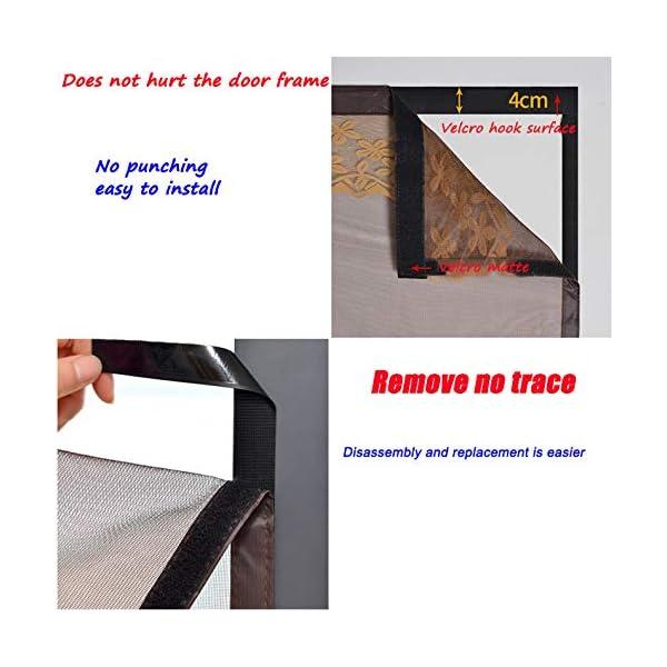 FENGZ Zanzariera Magnetica, Anti Insetti Traspirante Chiusura Automatica Tenda Zanzariera Porta-per Balcony Sliding… 6 spesavip