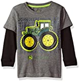 John Deere Baby Boys' 2 for Tee, Grey, 4T
