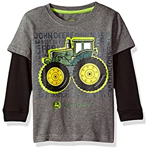 Best Epic Trends 51A8aD9EA%2BL._SS300_ John Deere Baby Boys' 2 for Tee-Grey