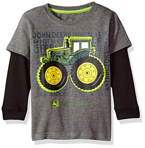 - John Deere Baby Boys' 2 for Tee-Grey, 4T