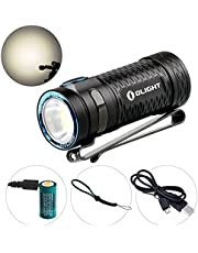 Olight® Torch S1 MINI Baton or S1 MINI HCRI Rechargeable LED Flashlight with Built-in Micro-USB Port Ultra Compact for Camping Outdoors and Indoors(S1 MINI or S1 MINI HCRI Optional) (S1 MINI HCRI)