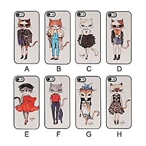 Fashion Cat Model Pattern Pasting Skin Case for iPhone 5/5S , F