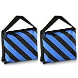 Neewer® Set of Two Black/Blue Heavy Duty Sand Bag Photography Studio Video Stage Film Sandbag Saddlebag for Light Stands Boom Arms Tripods