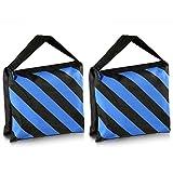 Neewer® Set of Two Black/Blue Heavy Duty Sand Bag Photography Studio Video Stage Film Sandbag Saddlebag for Light Stands Boom Arms Tripods