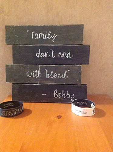 Amazoncom Supernatural Wood Sign Bobby Quote Dean Winchester Handmade
