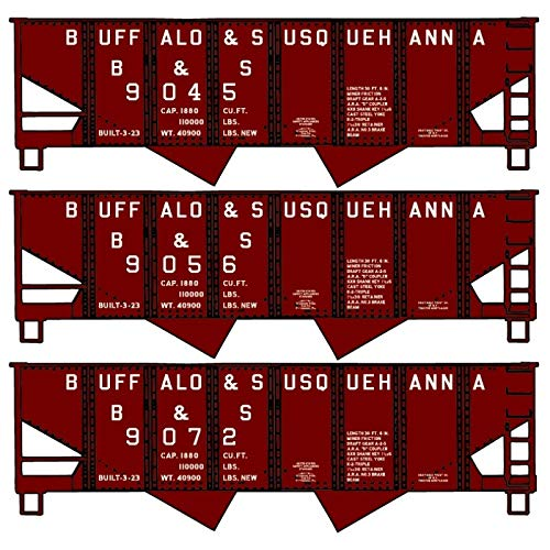 Accurail 24295 - Buffalo and Susquehanna Twin Hopper 3-Pack - HO Scale Kit