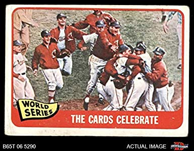 fa5053f0b0b 1965 Topps   139 1964 World Series - Summary - The Cards Celebrate St. Louis