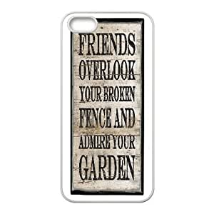 Distressed Inspirational Series, Case For Iphone 6 4.7 Inch Cover Case, Friends Quote Wall Art Case For Iphone 6 4.7 Inch Cover [White]