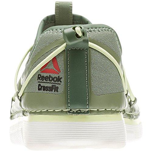 Reebok Para Mujer Training Crossfit Nanossage Bng Zapatos Bajos En Color Plateado / Brillo Cítrico / Blanco