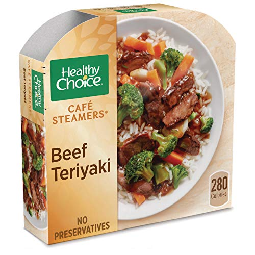 (Healthy Choice Cafe Steamers Frozen Dinner, Asian Inspired Beef Teriyaki, 9.5 Ounce)
