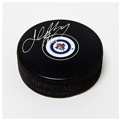 Josh Morrissey Winnipeg Jets Autographed Signature Autograph Model Hockey Puck - COA Included from Sports Collectibles Online