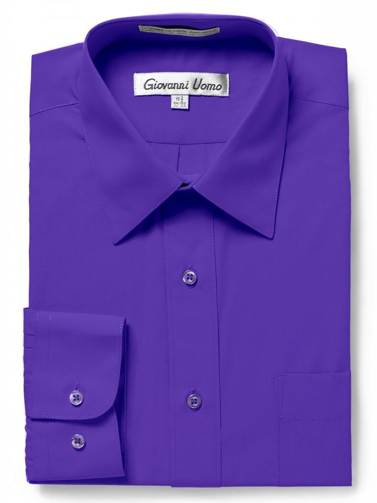 Giovanni UomoメンズTraditional Fitソリッドカラードレスシャツ B0128NFG1O 15
