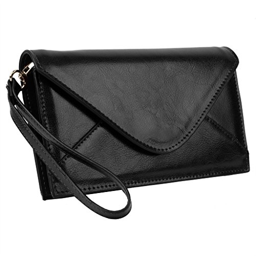 YALUXE Womens Envelope Structured Leather