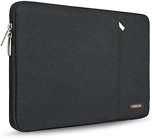 HSEOK-156-Inch-Laptop-Sleeve-for-DellAusuAcerHPToshibaLenovo-Spill-Resistant-Ultrabook-Netbook-Tablet-Bag-Case-Cover-Black
