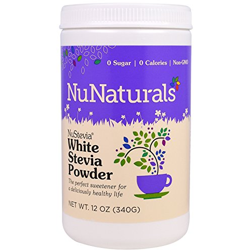 (NuStevia White Stevia Powder, 12 oz (340 g) Pack of 2)