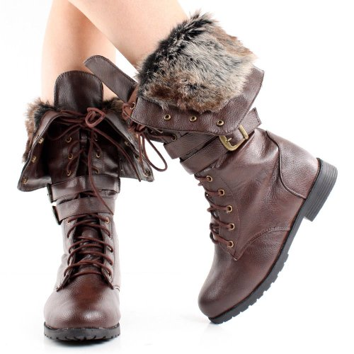 Up Boot West Women's brown Blvd pu Lace Shanghai Winter qcFYrXgwF