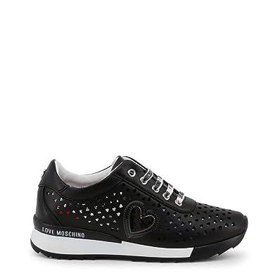 ec2181d829722 Amazon.com: Love Moschino Women Black Sneakers: Shoes