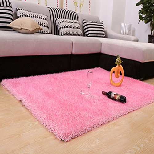 SU@DA Carpet Mat Kitchen Bathroom Anti-skid Living room Foot pad Thickening , pale pink , 140200cm by SU@DA
