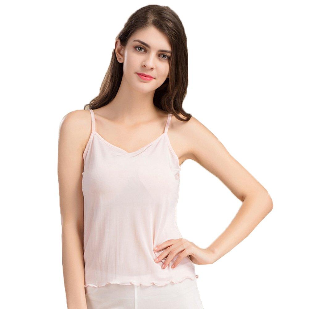 Hoffen Womens 100% Silk Camisole Lingerie V-Neck Tank Top