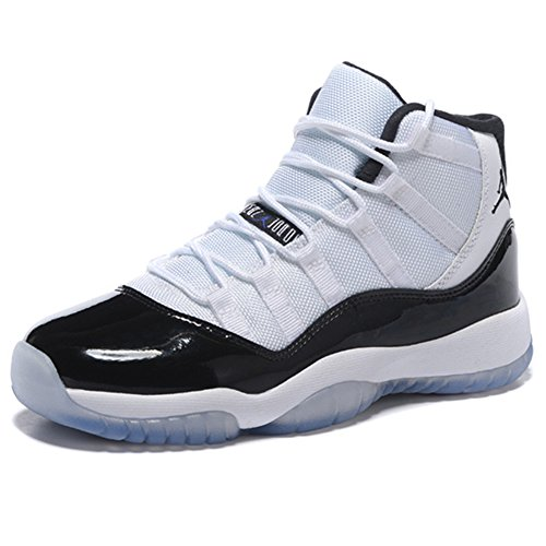 Skye Collier Men's Escape Sneakers AIR JORDAN 11 CONCORD AJ11 Joe 11 White Black Shoes 378038 107 Men's Casual Shoe