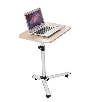 Laptop Desk Home Mesa de Bandeja giratoria con Ruedas giratorias y portátiles extraíbles - Mesa de