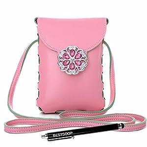 Blackberry Passport Case , BESTSOOP New Arrival Multifunctional Handbag Purse Design Pouch Wallet Case with Shoulder Chain Strap For Blackberry Passport Q30 (Pink)