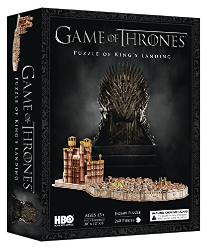 4D Cityscape Game of Thrones: 3D Kings Landing Puzzle (260 Piece)