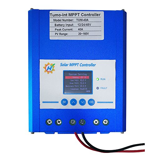 Tumo-Int 40 Amp MPPT Solar Controller, 12/24/48V 180VDC Input by Tumo-Int