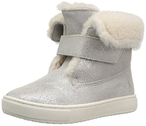 Polo Ralph Lauren Kids Girls' 993451 Shearling Boot, Silver, 11 M US Little Kid