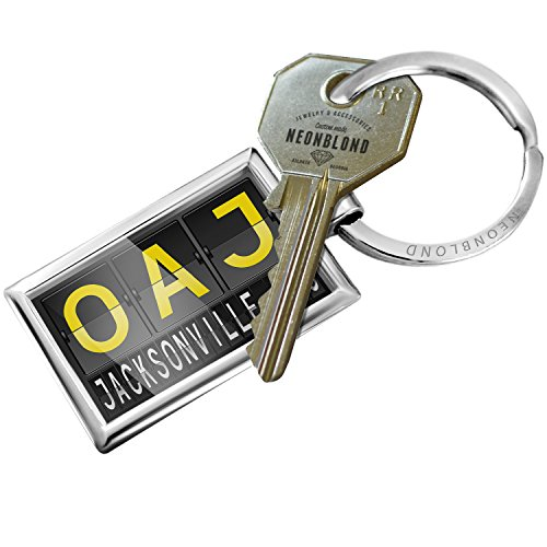 - Keychain OAJ Airport Code for Jacksonville, NC - NEONBLOND