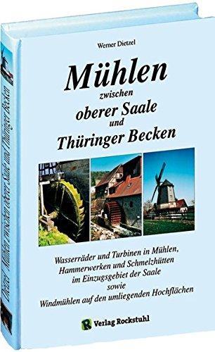 Mühlen zwischen oberer Saale und Thüringer Becken: Wasserräder und Turbinen in Mühlen, Hammerwerken und Schmelzhütten im Einzugsgebiet der Saale sowie Windmühlen auf den umliegenden Hochflächen