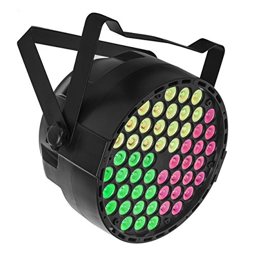 URlighting Par Lights LED Stage Lighting RGB 3 in 1 54x3W DMX512 Master-Slave Auto Sound Activated Family Party DJ Disco Wedding Decoration Stage Show Band Lamp