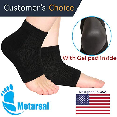 Metarsal Moisturizing Gel Heel Socks with Silicone Gel Pad for Dry Cracked Heel, Washable Reusable Open Toe Ultimate Treatment Helps Repair Dry Heels, Rough Calluses, Dry Skin for Man Women (1 pair)