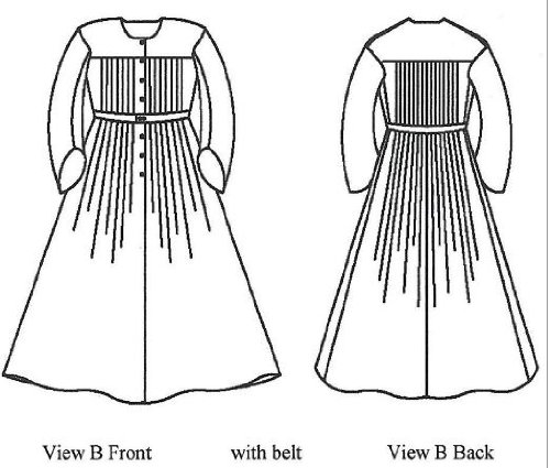 1840's—1860's Pleated Wrapper, Morning Gown, Work or