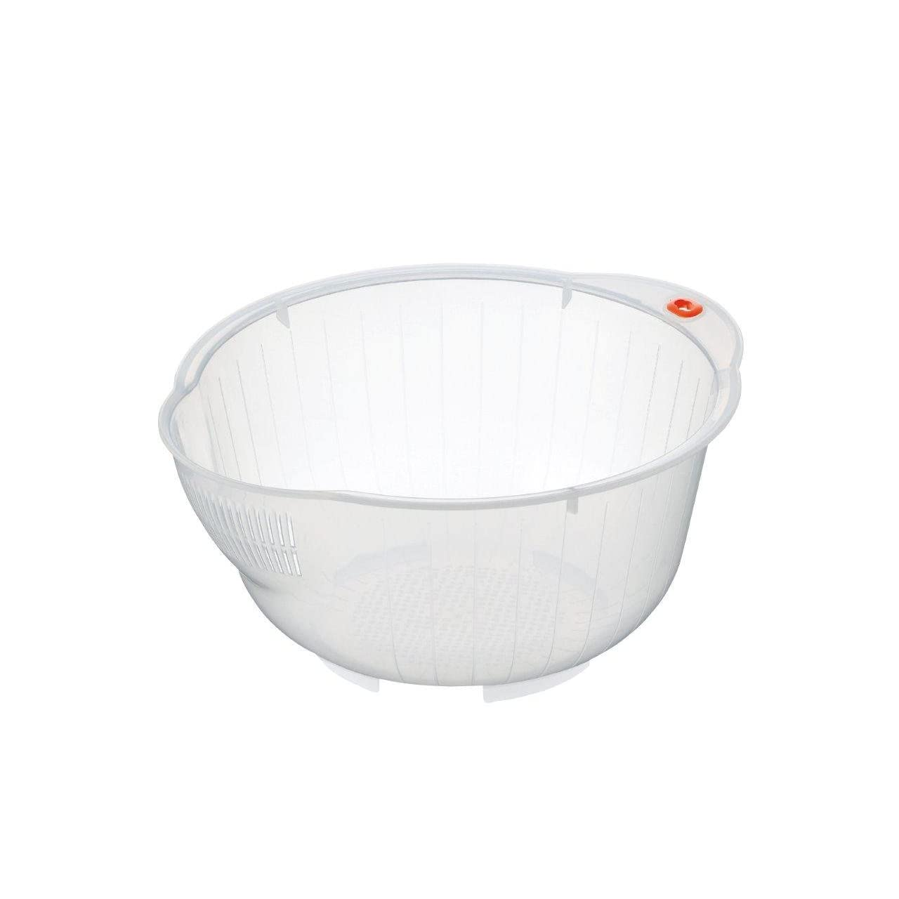 Inomata Japanese Rice Washing Bowl with Side and Bottom Drainers, Clear Review