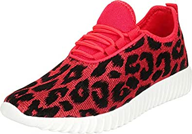 Cambridge Select Women's Lightweight Lace-Up Casual Sport Fashion Sneaker Red Size: 5