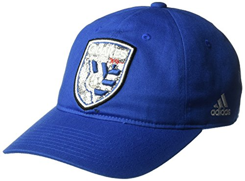 adidas MLS San Jose Earthquakes Women's Adjustable Slouch Hat, One Size, Blue