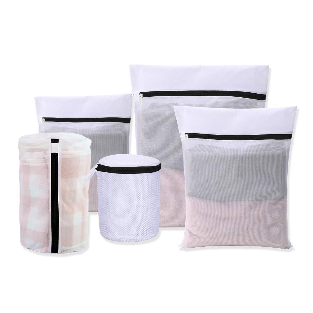 Underwear WestHOME Mesh Laundry Bags for Washing Machines with Pink Zips Set of 3 Medium * 1, Large * 1, XLarge * 1, Net Washing Bag for Delicates Bras Socks