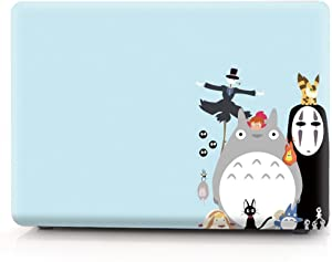 """Hard Case Compatible MacBook Air 13 inch / 13.3"""" Model A1466 / A1369, Release 2010-2017, AJYX Lovely Animal Pattern Matte Plastic Hard Protective Case Shell Cover, D11 Totoro"""