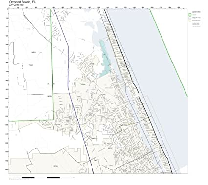 Map Of Ormond Beach Florida.Amazon Com Zip Code Wall Map Of Ormond Beach Fl Zip Code Map