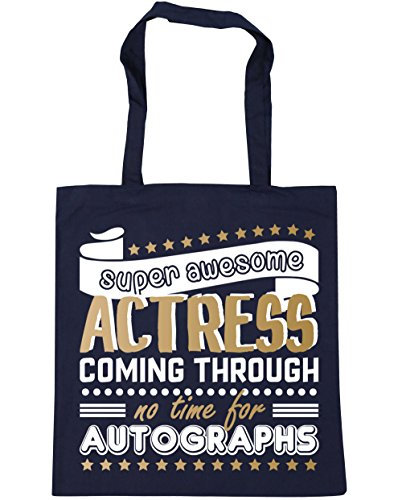 Awesome litres HippoWarehouse Autographs For Time No Beach 42cm Navy Coming 10 Tote Shopping Actress French Bag Gym Super x38cm Through rT8wq5r1