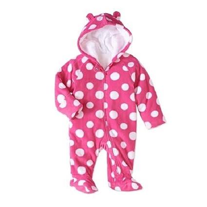 01dbfd1f8a80 Amazon.com  Healthtex Baby Girl Pram Snowsuit Faux Fur Fleece Footed ...
