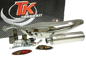 Turbo Kit Carreras 80 cromo Tubo de escape para Aprilia MX 50, RS 50,