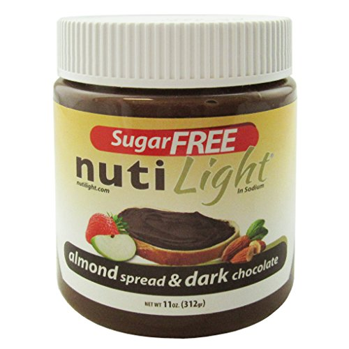 Almond Sugar Free Butter - Nutilight - Sugar Free - Almond Spread & Dark Chocolate - 11 oz Jar