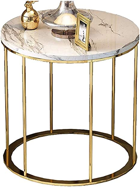Amazon Com Hfreoi Simple Coffee Table Modern Side End Table Creative Tea Table Round Marble Coffee End Table For Living Room Bedroom Bedside Office Home Decor Kitchen Dining