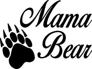 "Amazon.com: ""Mama Bear"" Vinyl Car Decal 8"" x 6"": Home"